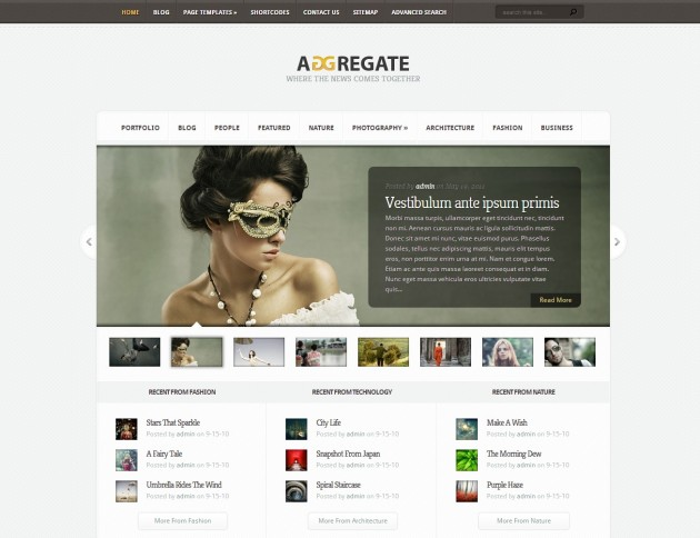 Aggregate theme, from Elegant Themes