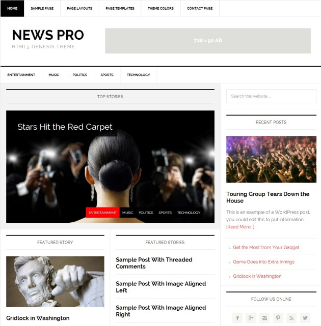 News Pro theme, from StudioPress