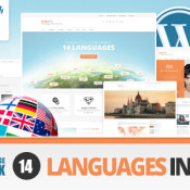 First WordPress Multilanguage Theme Released on Themeforest