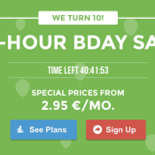 SiteGround Celebrate 10 Years with 48 Hour Birthday Sale