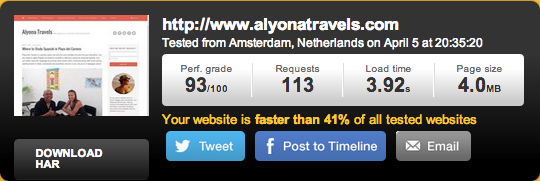 Alyonatravels.com on Media Temple Hosting - Tested from Amsterdam