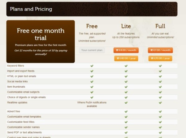 pricing plans