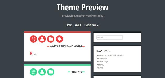 Crangasi: Horizontal Container Blog WordPress Theme