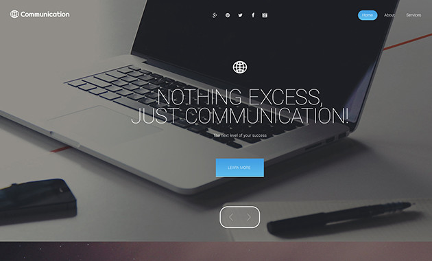 7. communication wpml ready wordpress theme