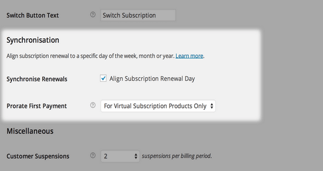 WooCommerce Subscriptions - Synchronizing and Prorating