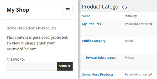 Password protect WooCommerce product categories with WooCommerce members-only Plugin