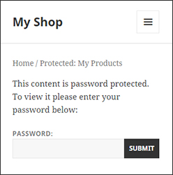 Password protect WooCommerce categories