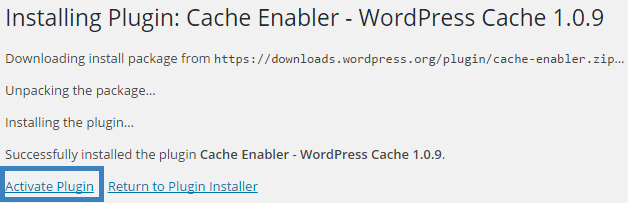 activate cache enabler