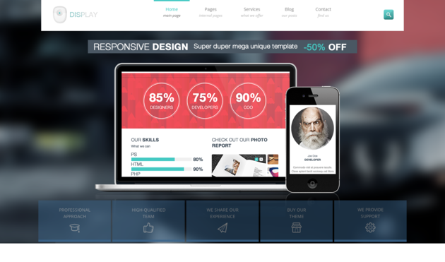 Display App Showcase Website Templates