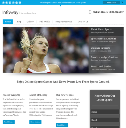 InfoWay Creative Landing Page Templates