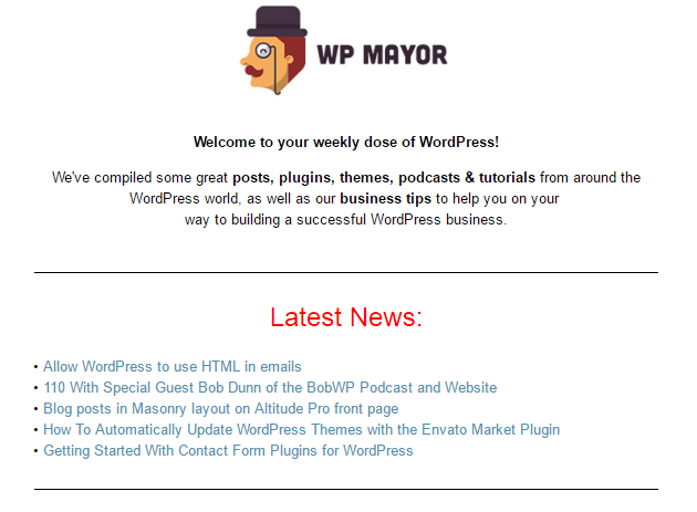 Newsletter preview.