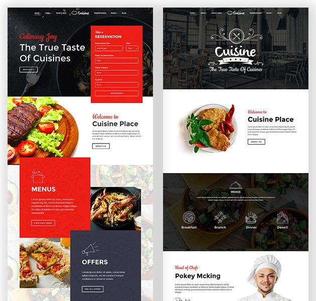 second and third homepage variations