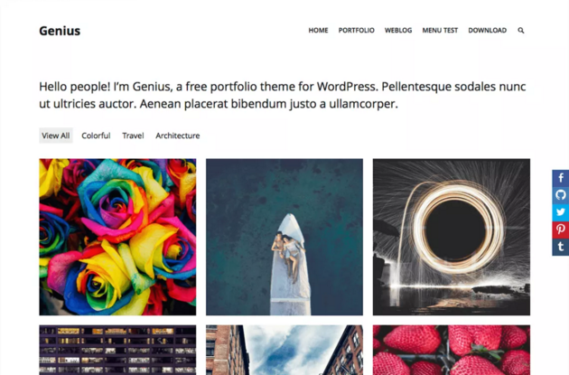 Genius WordPress theme