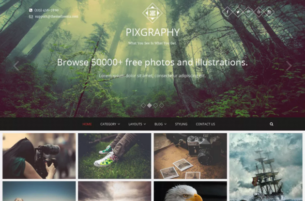 Pixgraphy WordPress Theme