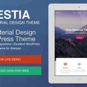 Hestia Offers Attractive and Free, One Page Material Design WordPress Theme