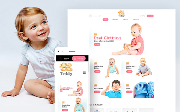 baby store WooCommerce theme