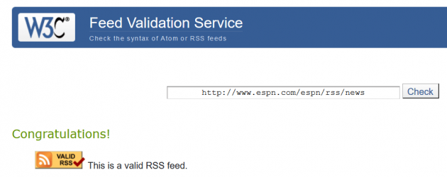 WP RSS Aggregator - Feed Validation
