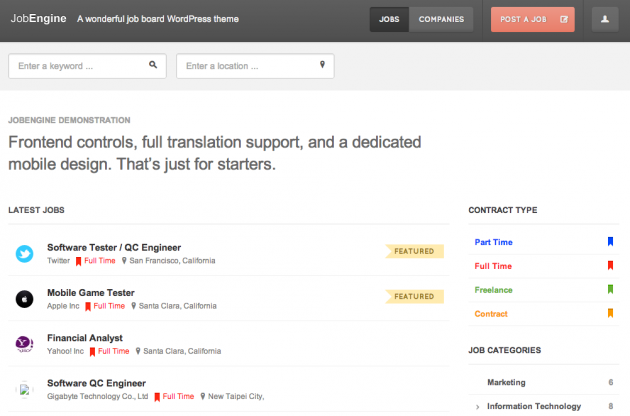 JobEngine latest jobs