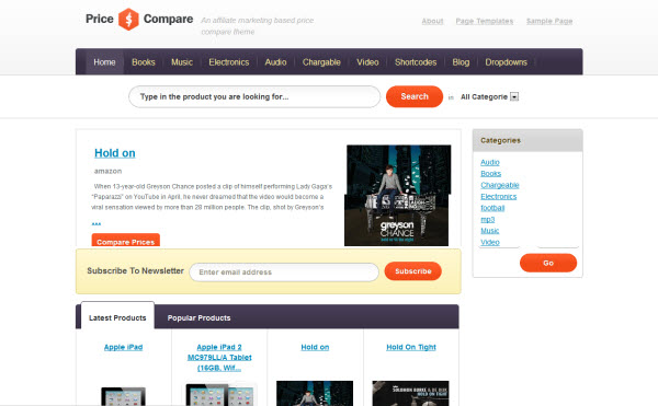 Price Compare Affiliate Theme for WordPress