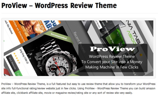 ProView   WordPress Review Theme   WP Eden