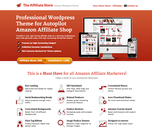 The Affiliate Store WordPress Theme