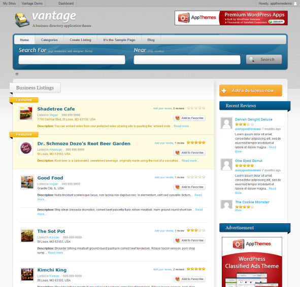 Vantage Affiliate Theme for WordPress