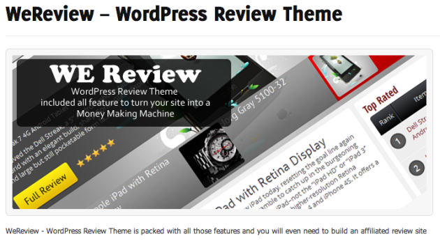 WeReview   WordPress Review Theme   WP Eden