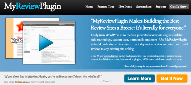 WordPress Review Plugin for Affiliates   MyReviewPlugin