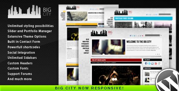 Big City travel themes for WordPress