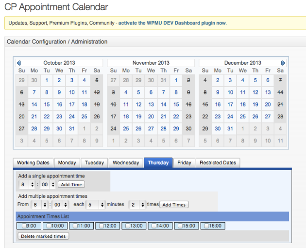 cp appointment calendar